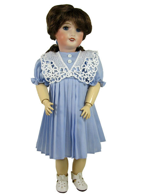"14"" Vintage Pleated Skirt Doll Dress"