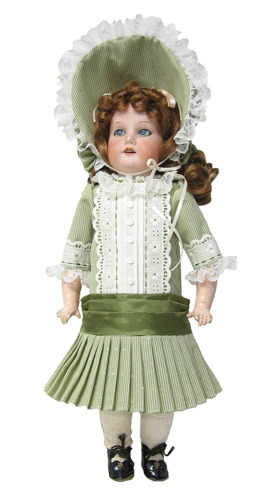"15"" Antique Dropped Waist Doll Dress"
