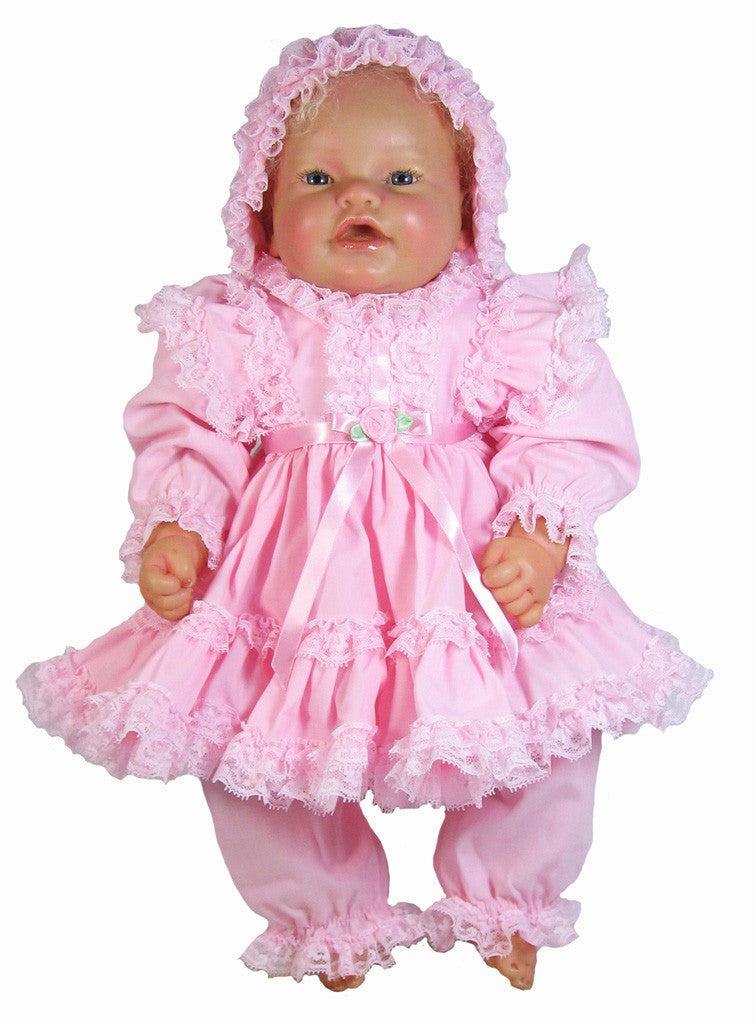 Vee S Victorians Doll Clothes 16 Quot Pink Dress For Baby Doll