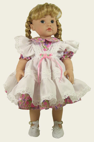 "16"" Pinafore Doll  Dress"