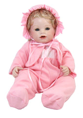 "16"" Knit Baby Girl Doll Outfit"