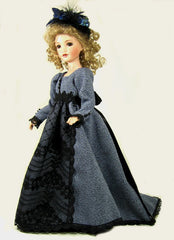 "16"" Blue Fashion Doll Dress"