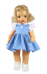 "16"" Classic Blue Terri Lee Doll Dress"