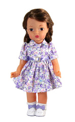 "16"" Floral Shirt Dress for Dolls"