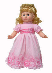 "16"" Pink Roses Doll Formal"