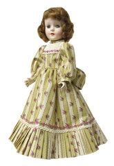 "17"" Rose Stripe Fashion Doll Dress"