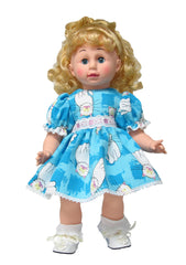 "16"" Cat Print Doll Dress"
