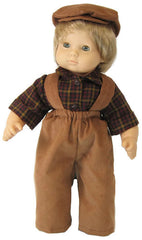 Corduroy Pant Doll Outfit with Hat