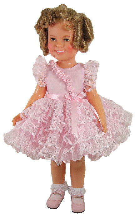 "Pink ""Take a Bow"" Dress for Shirley Temple Dolls"