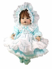 "16"" Lacy Pinafore Doll Dress"