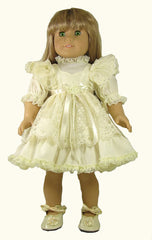 "17"", 18"" Mock Pinafore Doll Dress"