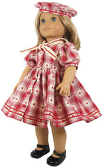 "18"" Plaid Sailor Shirt Dress"