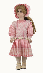 "18"" Victorians Dropped Waist Pleated Skirt Doll Dress"