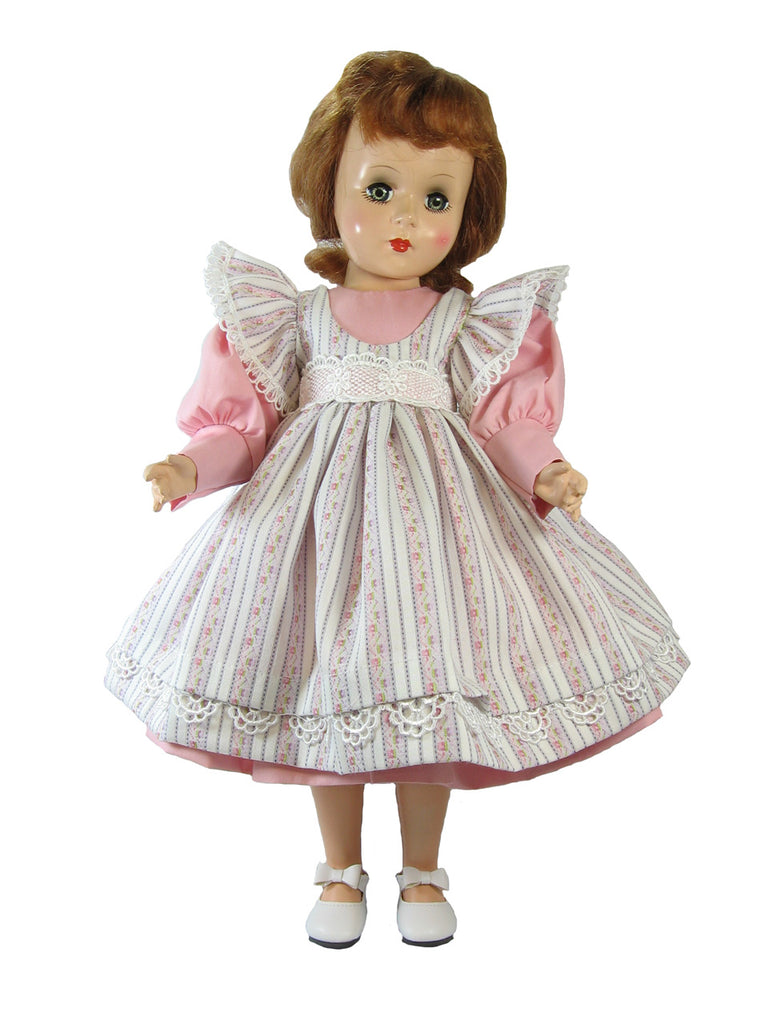 "Striped Pinafore Dress for 17"" Sweet Sue Dolls"