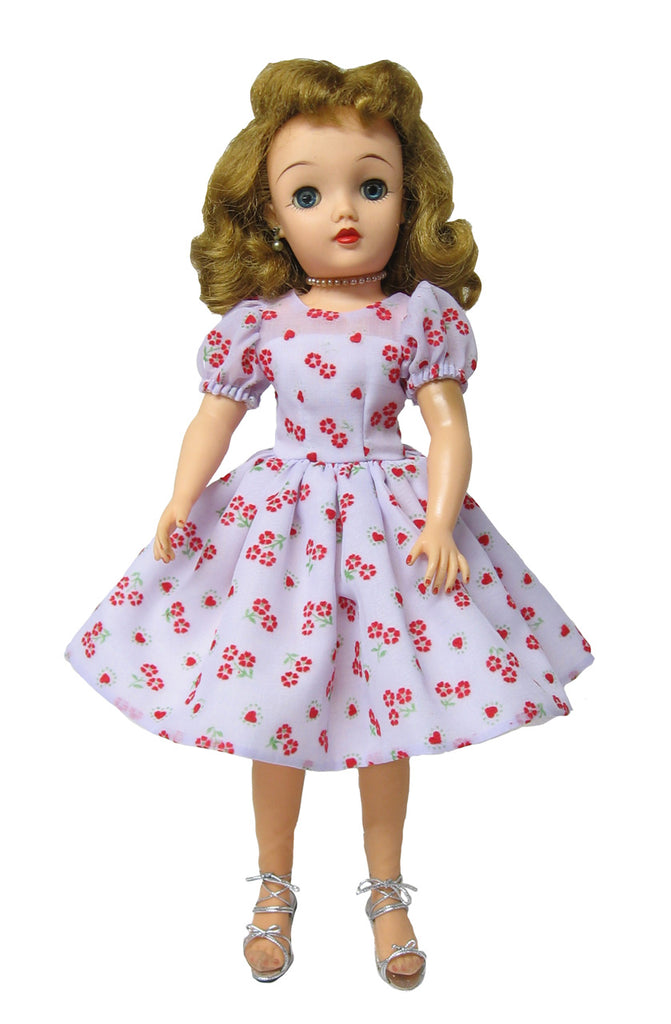 "18"" Flocked Hearts Doll Dress"