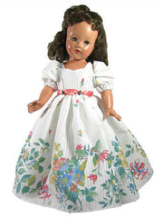 "18"" Vintage Print Fashion Doll Dress"
