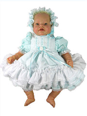"18"" Striped Seersucker Baby Doll Dress"