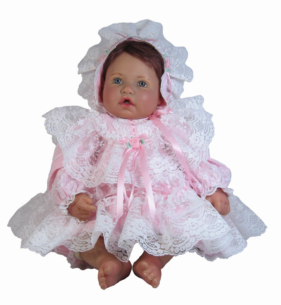 "Pink LacyOutfit for 19""-22"" Baby Dolls"