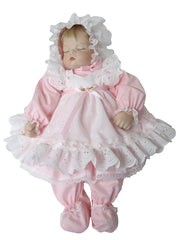 "19"" Eyelet Pinafore Doll Dress"