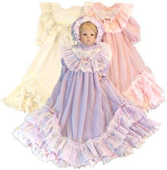 "19"" Lacey Christening Doll  Dress"