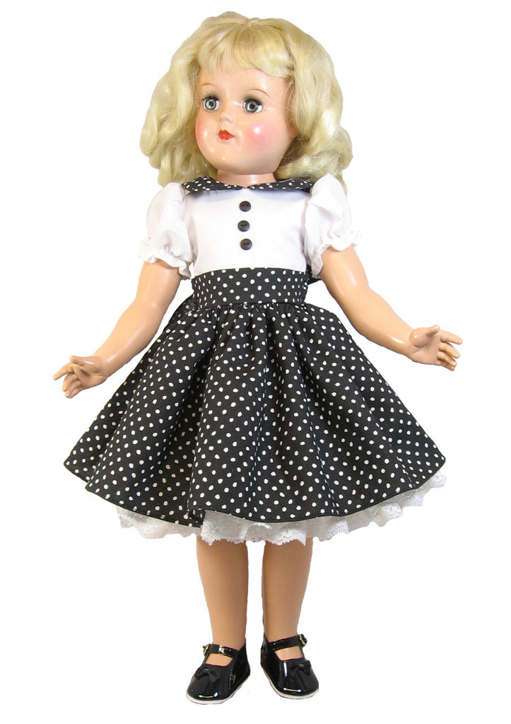 "Black Fitted Dress for 20"" P-93 Toni Doll"