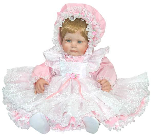 "20"" Lacey Pinafore Doll Dress"