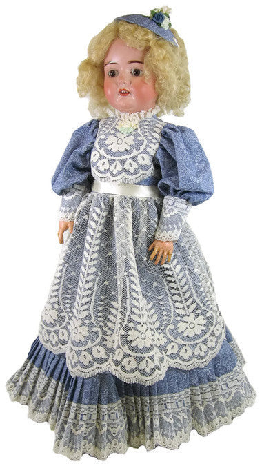 "Blue Victorian Dress for 22"" Dolls"