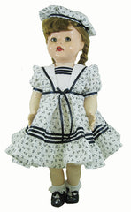 "22"" Frilly Sailor Doll Dress"