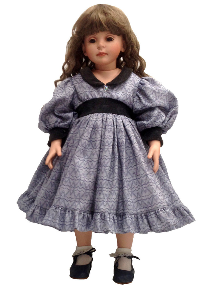 "Navy Elegance Dress for 24"" Dolls"