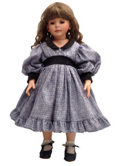 "24"" Navy Elegance Doll Dress"