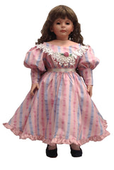 "24"" Striped Delight Doll Dress"