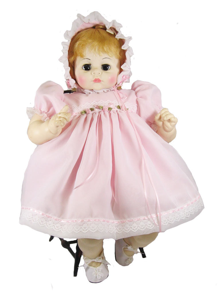 "Vintage Baby Doll Dress for 24"" Dolls"