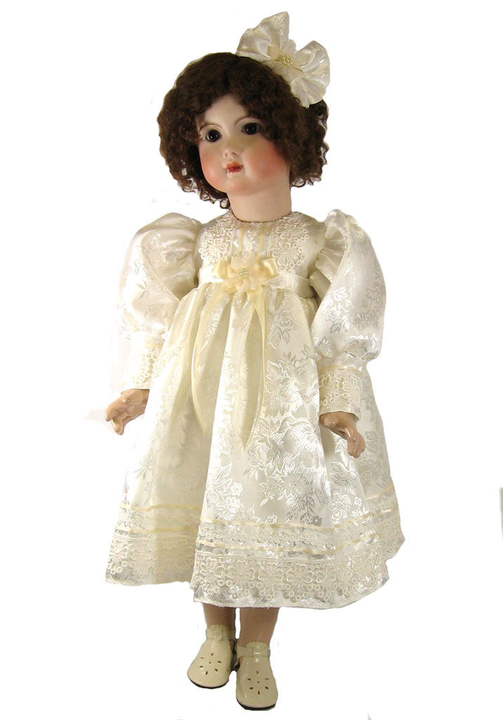 "Silky Jacquard Dress for 24"" Dolls"