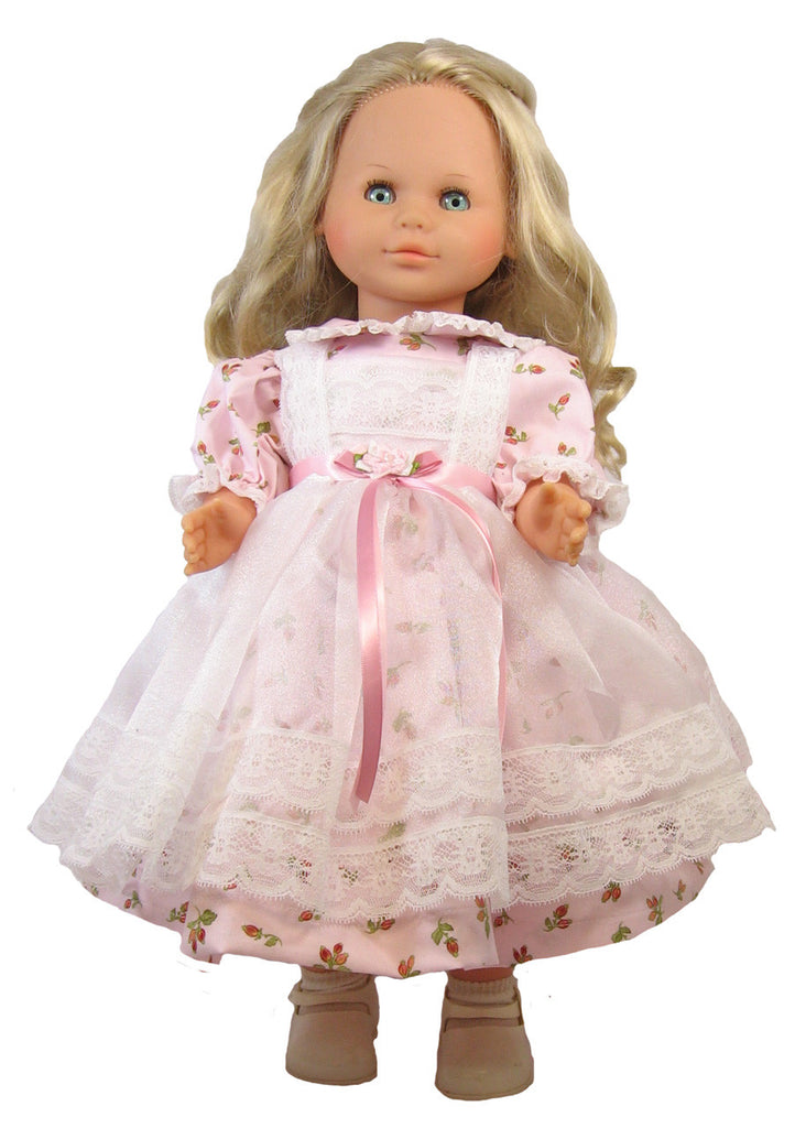 "Pink Roses Dress for 24"" Dolls"