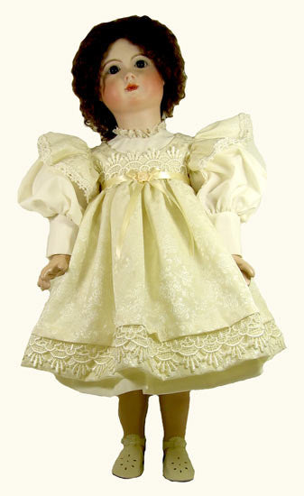 "24"" Victorian Pinafore Doll Dress"