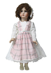 "24"" Eyelet Doll Dress with Apron"