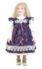 "26"" Victorian Rose Pinafore Doll Dress"