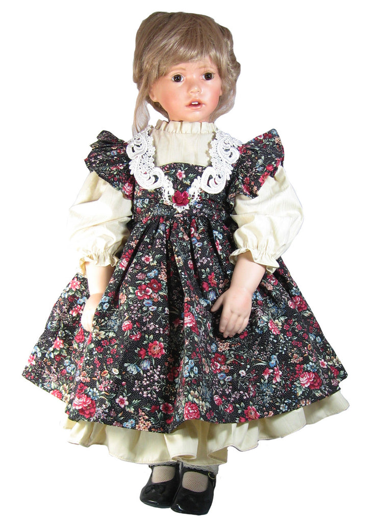 "Country charm dress for 28"" dolls"