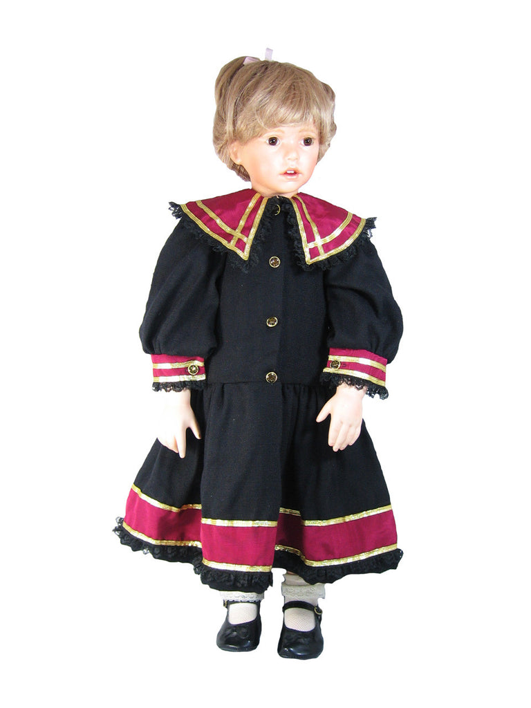 "Black Sailor Dress for 28"" Dolls"