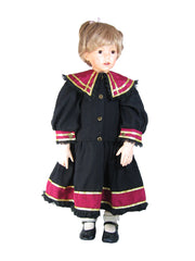 "28"" Black Sailor Doll Dress"