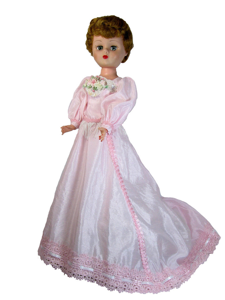 "Pink Elegance Dress for 24"" Slim Fashion Dolls"
