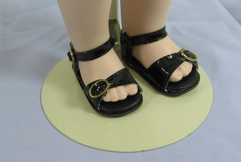 Black Sandals for Dolls