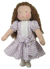"16"" Striped Dropped Waist Waldorf Doll Dress"