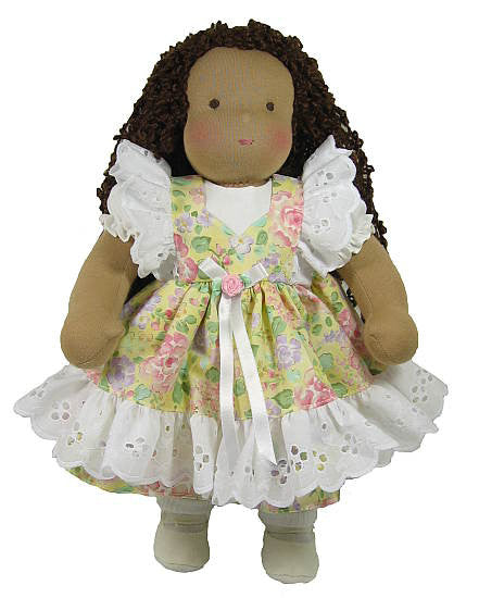"14"" Floral Eyelet Waldorf Doll Dress"