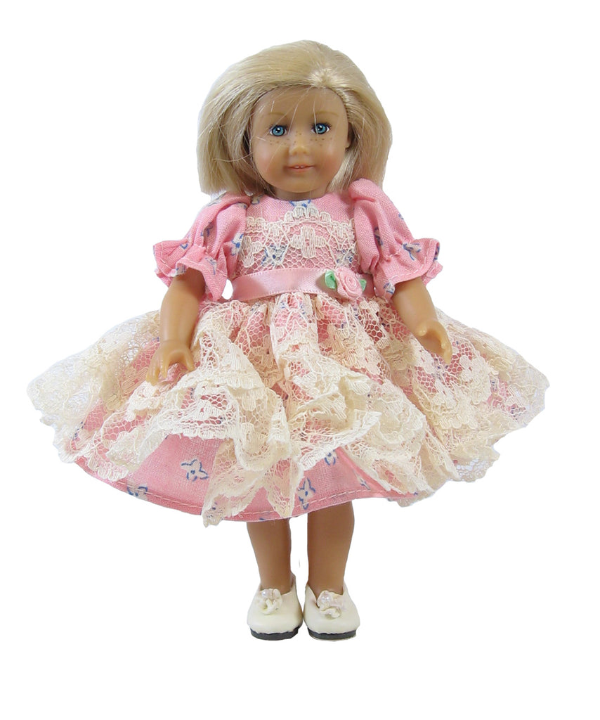 "Pink Lacy Dress for 7"" Riley"