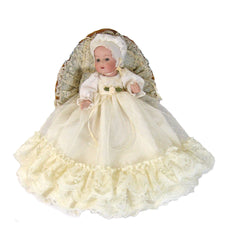 "7"" Christening Doll Dress"