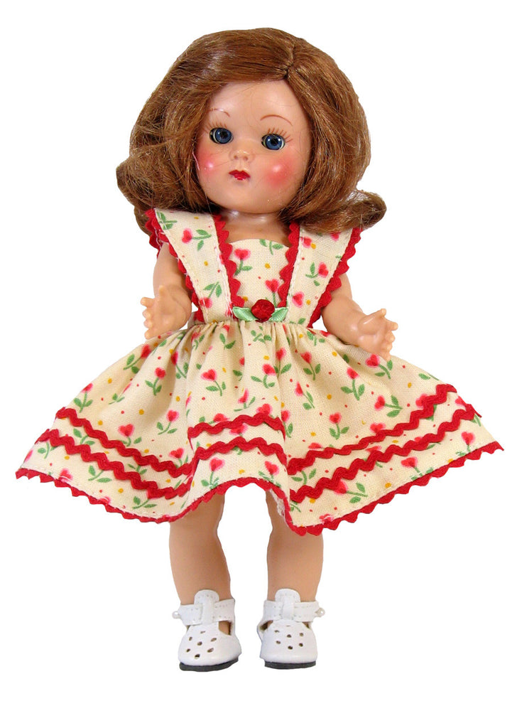 "Red Tulip Sundress for 7"" Dolls"