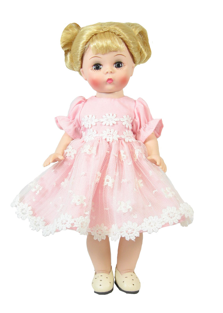 "Pink Daisy Lace Dress fits 7"" Riley and Madame Alexander Dolls"