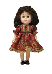 "7"" Red 'n Gold Doll Dress"