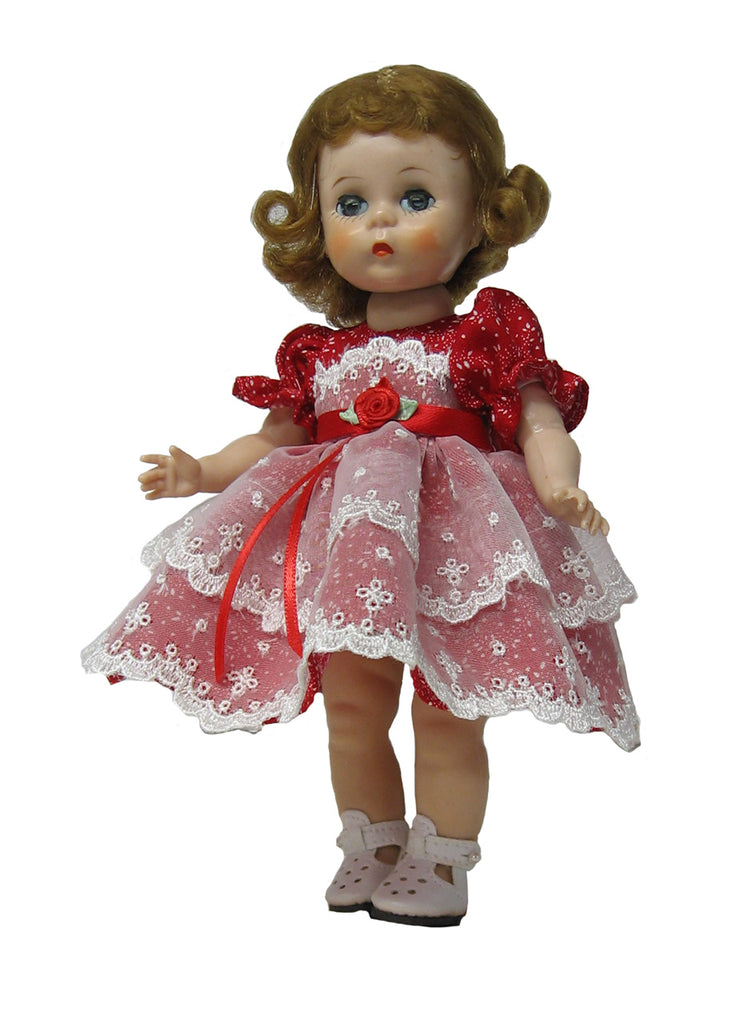 "7"" Embroidered Lace Fancy Doll Dress"